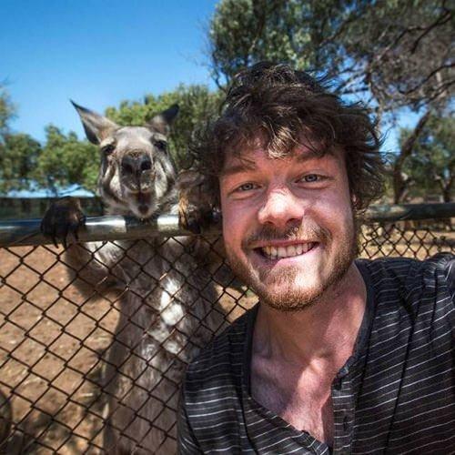 Hayvanlarla 'Selfie'nin Ustası