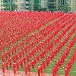 Çin'de 50 bin 85 emekliden dans rekoru