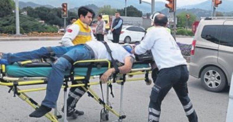 Salihli'de trafik kazası: 1 ölü var