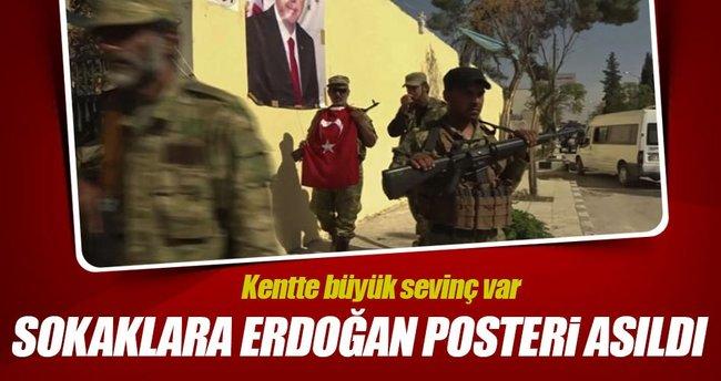 Dabık'ta sokaklara Erdoğan posterleri asıldı