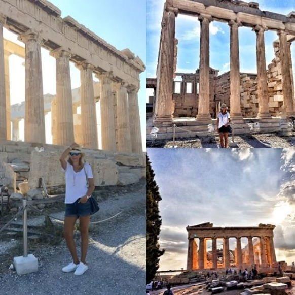 Arzu Sabancı Yunan adalarını gezdi