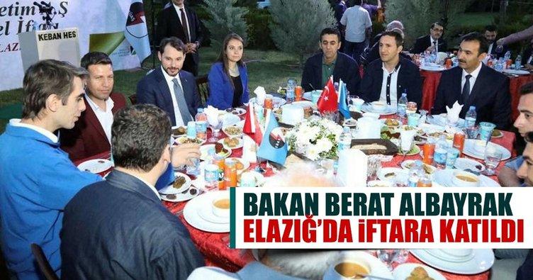 Bakan Albayrak Elazığ'da iftara katıldı!