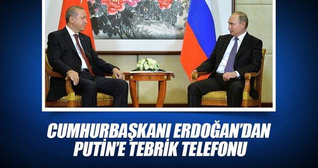 Cumhurbaşkanı Erdoğan, Putin'i seçimlerdeki zaferinden dolayı tebrik etti