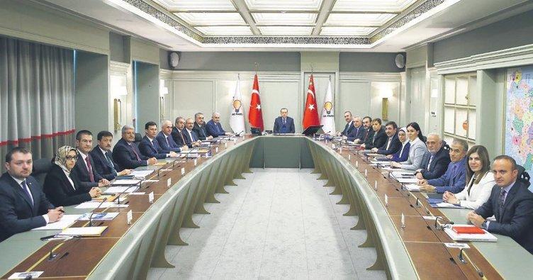 Erdoğan başkanlığında ilk MYK