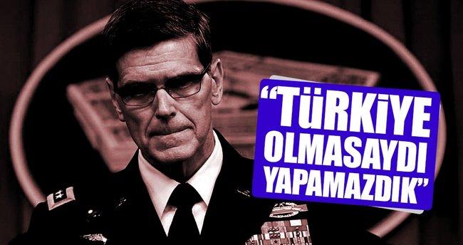 ABD Merkez Kuvvetler Komutanı Votel: Türkiye olmasaydı yapamazdık