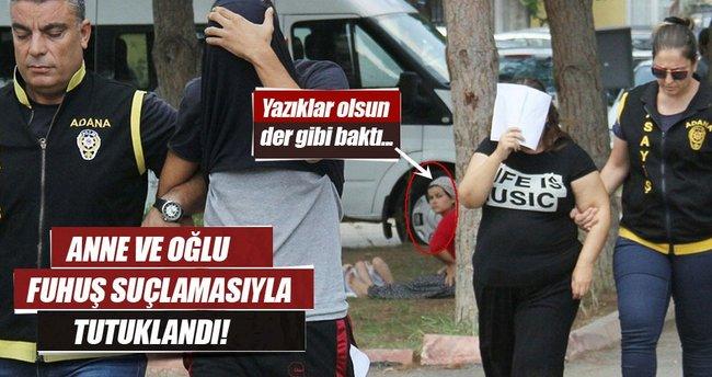 Adana'da fuhuş operasyonu: Anne ve oğlu tutuklandı