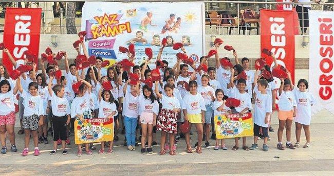 Groseri Çocuk Kulübü üyelerinin kamp keyfi