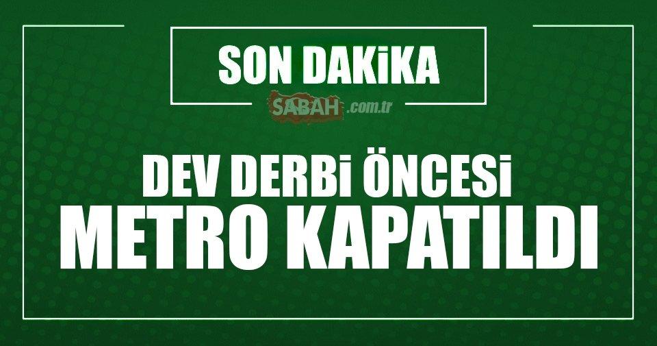 Şişli-Mecidiyeköy metrosu kapatıldı