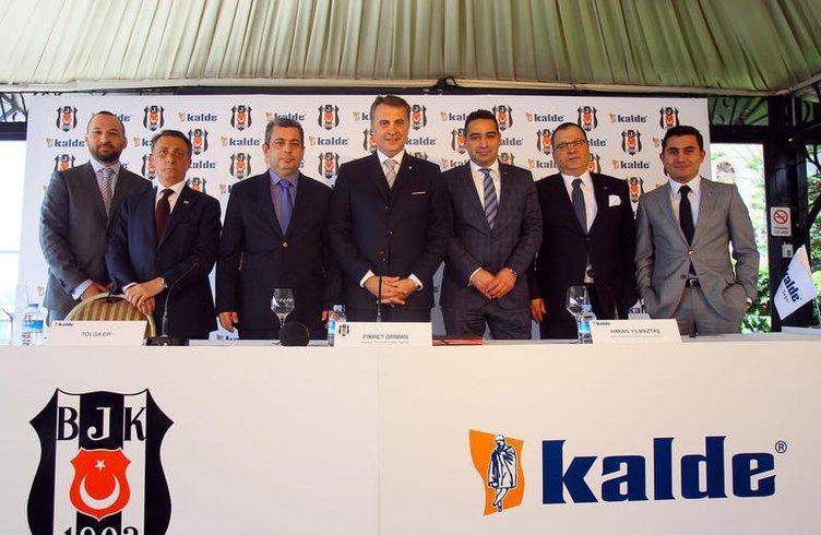 Beşiktaş'ın forma sponsoru Kalde oldu