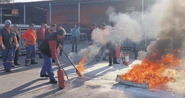 Muratpaşa'da yangın tatbikatı
