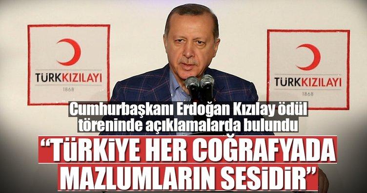 Cumhurbaşkanı Recep Tayyip Erdoğan: Türkiye her coğrafyada mazlumların sesidir