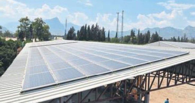 Konyaaltı Belediyesi elektriğini üretiyor