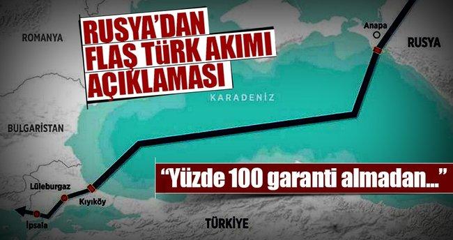 Rusya'dan flaş Türk Akımı açıklaması