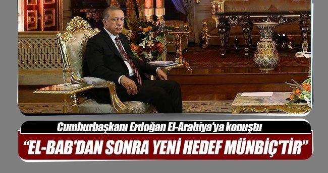 Cumhurbaşkanı Erdoğan El-Arabiya'ya konuştu