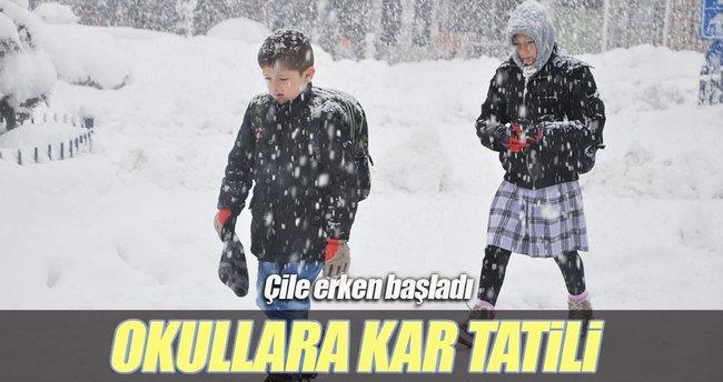 Ardahan'da okullara kar tatili