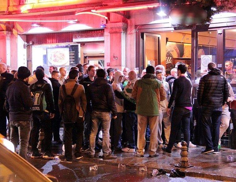 Celtic taraftarı Taksim'de olay çıkardı!