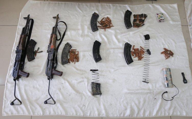 Hakkari'de PKK'nın mühimmatı yakalandı!