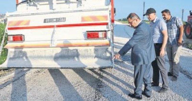 Yol çalışmaları kesintisiz sürüyor