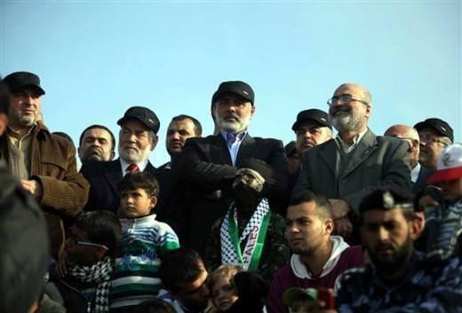 Gazze'de askeri tören