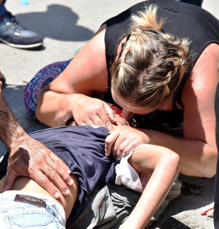 Çarptığı çocuğu yerde kanlar içinde görünce sinir krizi geçirdi