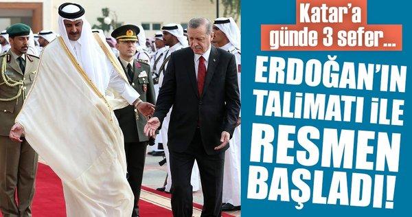 Cumhurbaşkanı Erdoğan'ın talimatıyla Katar'a gıda sevkiyatı başladı