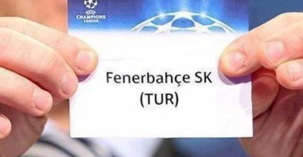 Şampiyonlar Ligi'nde muhtemel rakipler Fener'i istiyor
