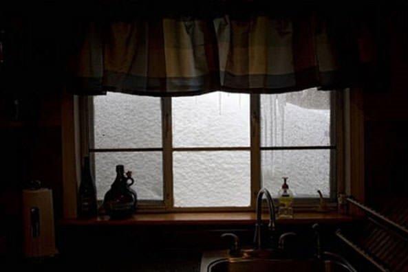 İnsanların karla imtihanı