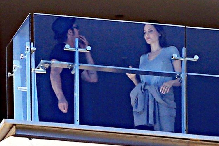 Angelina Jolie ile Brad Pitt'in balkonda hararetli kavgası