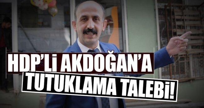 HDP'li Nihat Akdoğan'a tutuklama talebi