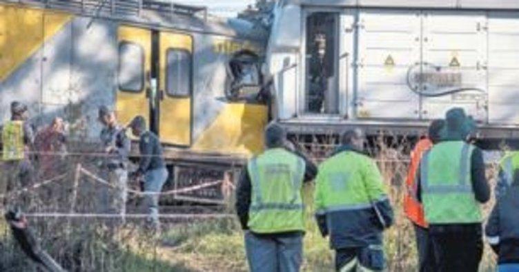 Tren kazası:1 ölü 50 yaralı