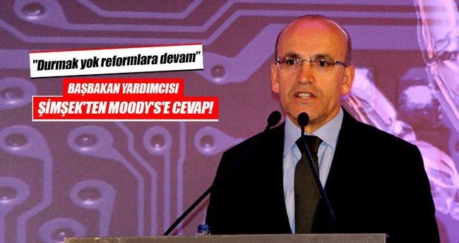 Başbakan Yardımcısı Şimşek'ten Moody's'e cevap!