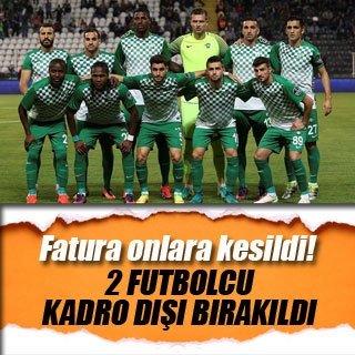 Akhisar'da 2 futbolcu kadro dışı bırakıldı
