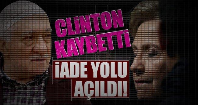 Clinton kaybetti iade yolu açıldı