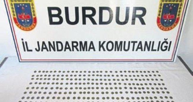 Burdur'da 340 adet sikke ele geçirdi