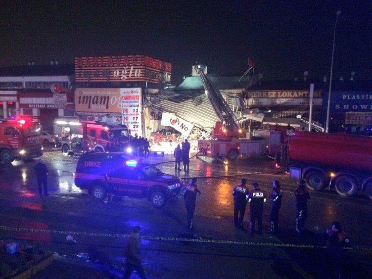Ankara'da LPG montaj servisinde patlama