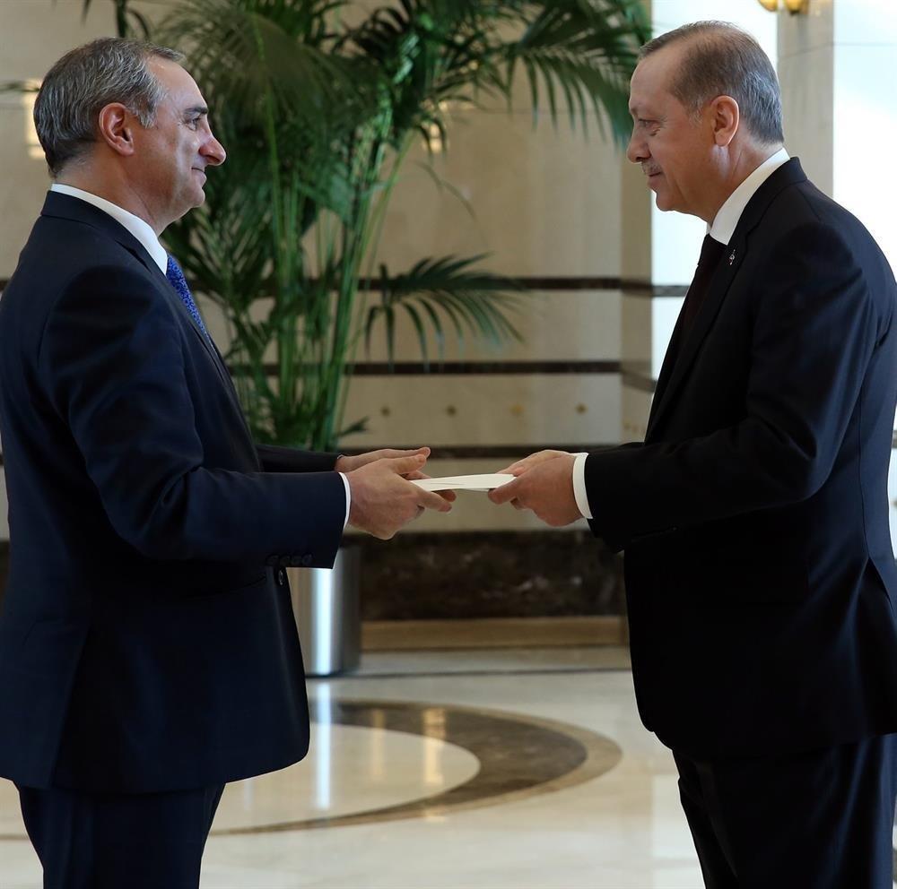 İsrail Büyükelçisi Cumhurbaşkanı Erdoğan'a güven mektubu sundu