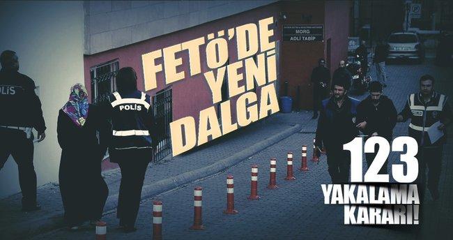 Kayseri'de yeni FETÖ dalgası: Tam 123 kişi...
