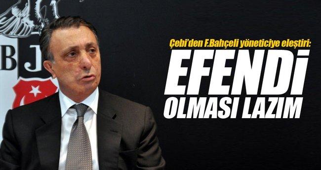 Ahmet Nur Çebi'den Mahmut Uslu'ya eleştiri!