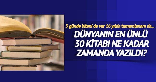 Hangi kitap kaç yılda yazıldı?