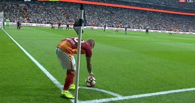 Galatasaray'ın golünden önce korner tartışması
