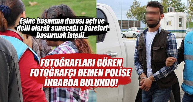Eşinin PKK'lı olduğunu kanıtlamak için fotoğraf bastırmak isteyince...