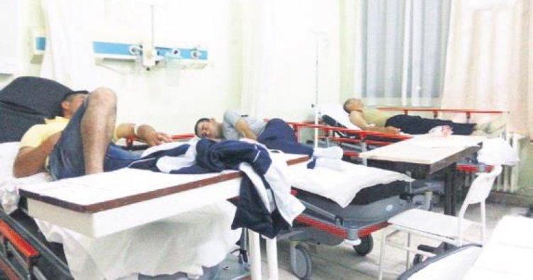 14 asker hastanelik oldu
