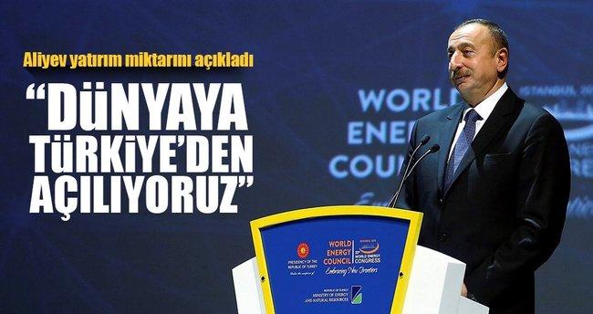 Aliyev: Türkiye'ye yatırımımız 20 milyar dolar