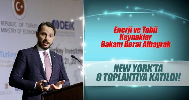 Enerji Bakanı Berat Albayrak, New York'ta toplantıya katıldı
