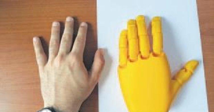 3 boyutlu yazıcı ile robotik el üretildi