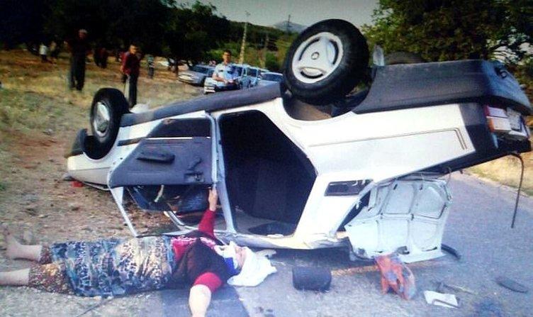 Otomobil takla attı: 8 yaralı