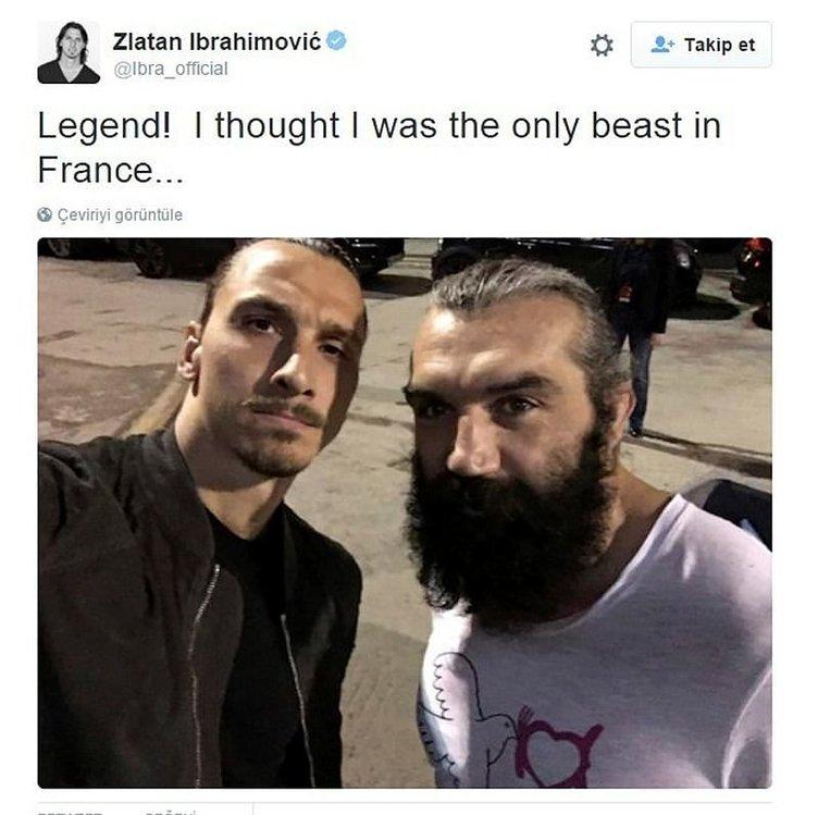 İbrahimovic ringe çıktı