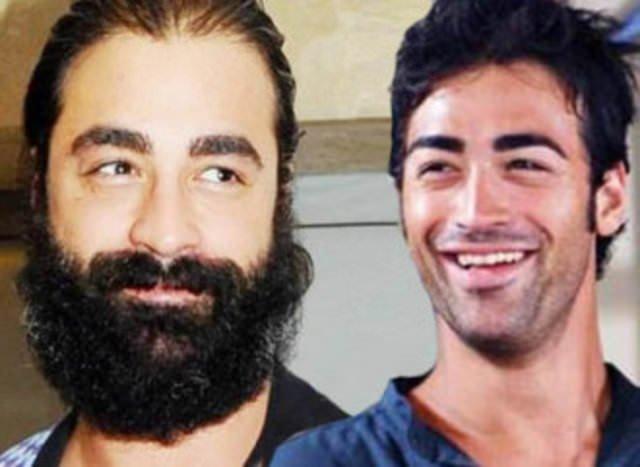 Ünlülerin sakallı ve sakalsız halleri