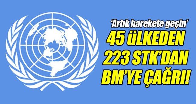 STK'lardan BM Genel Kuruluna Halep çağrısı!