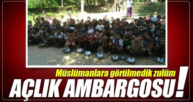 Müslümanlara açlık ambargosu